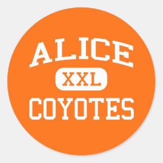 Alice - Coyotes - Alice High School - Alice Texas Classic Round Sticker