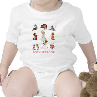 ALICE & HER FRIENDS FROM WONDERLAND BABY BODYSUITS