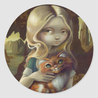 """Alice in a Da Vinci Portrait"" Sticker"