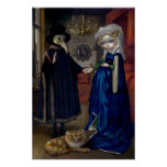 Alice in a Van Eyck Portrait ART PRINT wonderland