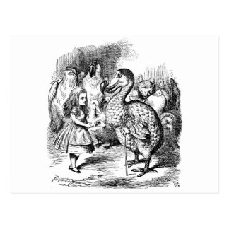 Alice in Wonderland and Dodo Bird Postcard
