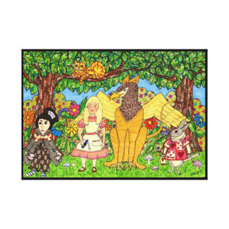 Alice in Wonderland and Friends Canvas Print