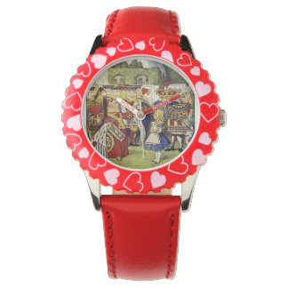 Alice in Wonderland and the Queen of Hearts watch