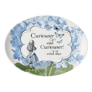 Alice in Wonderland Curiouser Hydrangea Platter