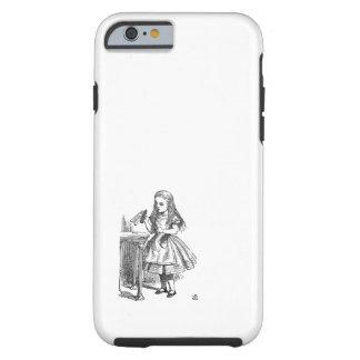 Alice in Wonderland Drink Me vintage sketch Tough iPhone 6 Case