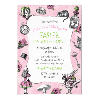 Alice in Wonderland Easter Brunch Card