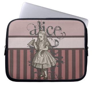 Alice In Wonderland Grunge Pink Computer Sleeve