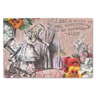 Alice in Wonderland Hatter and Rabbit Tissue Paper