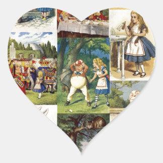 alice in wonderland heart sticker
