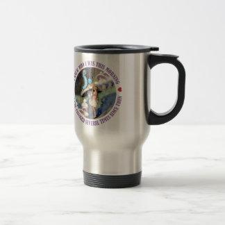 Alice in Wonderland: I knew Who I was this Morning Travel Mug