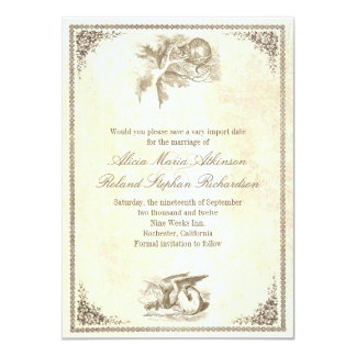 Alice in wonderland save the date cards 11 cm x 16 cm invitation card