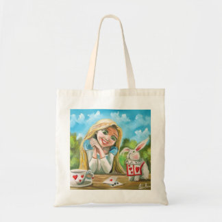 Alice in wonderland the white rabbit Gordon Bruce Tote Bag