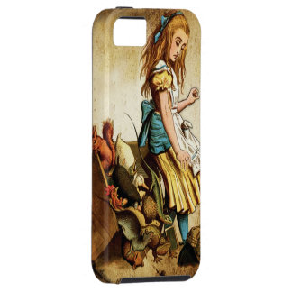 Alice in Wonderland with her animals iPhone 5 Covers