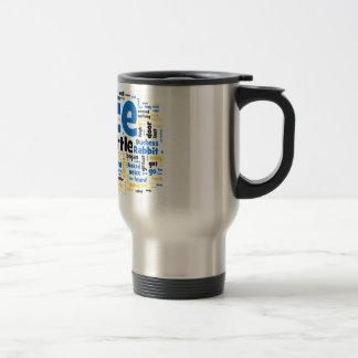 Alice in Wonderland Word Art Travel Mug