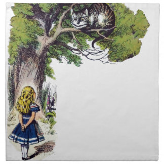 Alice Meets Cheshire Napkin