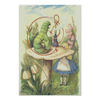 Alice Meets the Caterpillar Poster