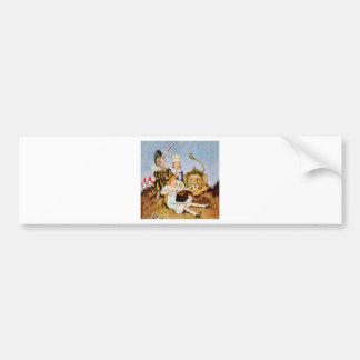 Alice Tells A Lion & Unicorn Cake Makes It Better Bumper Sticker