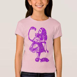 Alice & the Flamingo Purple T-Shirt