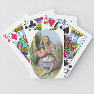 Alice & the Pig Baby in Pastels Bicycle Playing Cards