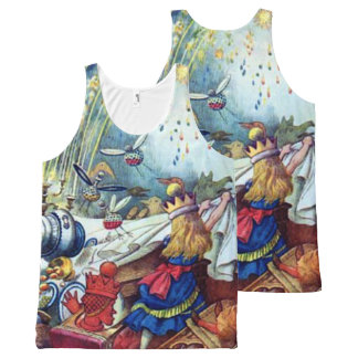 Alice Upsets the Table All-Over Print Singlet