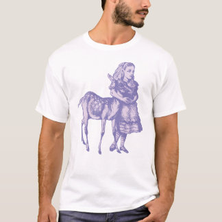 Alice with Fawn Inked Lavender T-Shirt