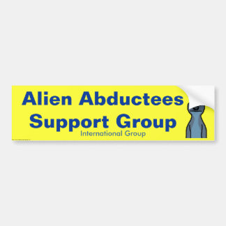Alien Abductees Support Group - Customized Bumper Sticker