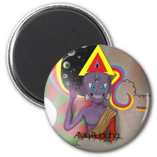 Alien Buddha Magnet