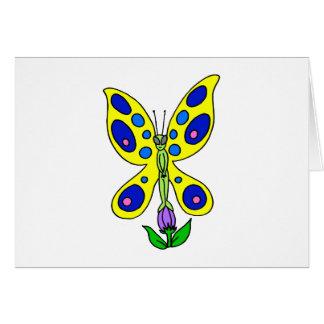 Alien Butterfly Note Card