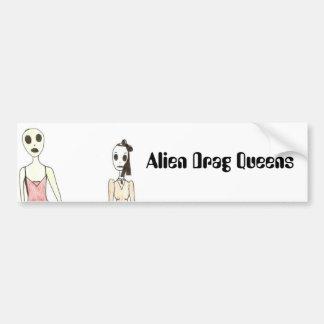 Alien Exposed as a Drag Queen Car Bumper Sticker