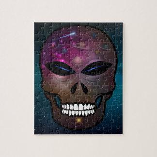 Alien Fantasy Skull Puzzle Universe & Planets