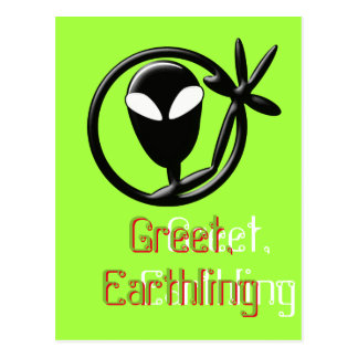 Alien Greeting Postcard