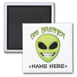 Alien Head Big Brother Square Magnet