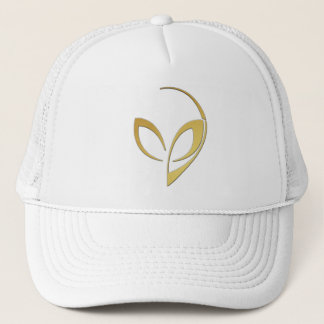 "Alien Mascot in ""Brushed Gold"" Trucker Hat"