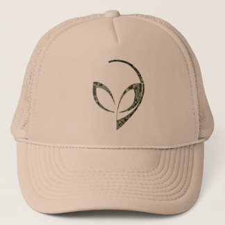 Alien Mascot in Gray Digital Camo Trucker Hat