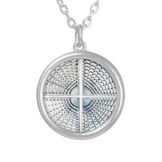 ALien metallik structure Silver Plated Necklace
