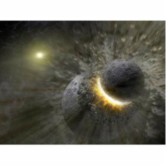 Alien Planet Collision Space Art Photo Cut Out
