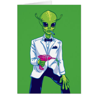 Alien Secret Agent Greeting Card