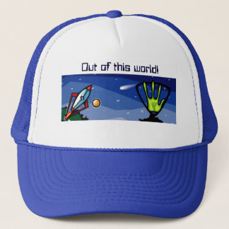 Alien Spaceship Trucker Hat