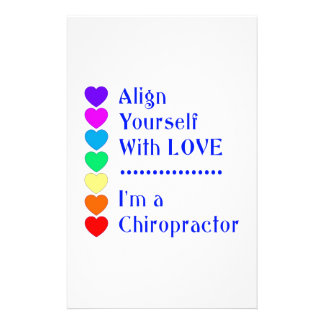 Align Yourself With Love - I'm a Chiropractor! Personalised Stationery