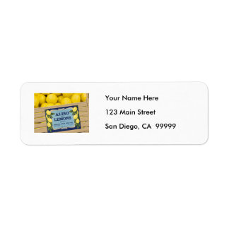 Aliso Lemons in a Crate Return Address Label