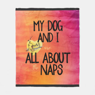 All About The Naps Pink/Orange Fleece Blanket