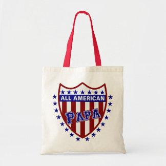 All American Patriotic Papa Tote Bag