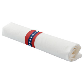 All American Red White and Blue Patriotic Banner Napkin Band