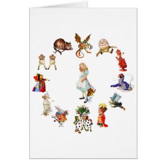 All Around Alice in Wonderland Card
