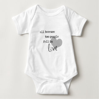 all because two people fell in love modern simple baby bodysuit