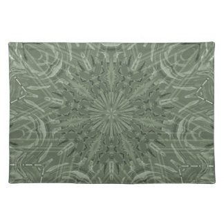 All Green Funky Sun Pattern Placemat