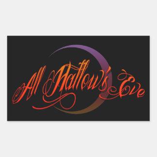 All Hallow's Eve Rectangular Sticker