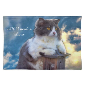 """""""All I need is love"""" Placemat"""