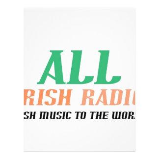 All Irish Radio 21.5 Cm X 28 Cm Flyer