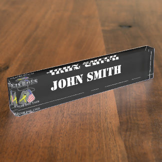 All My Heroes Wear Dog Tags Desk Nameplates